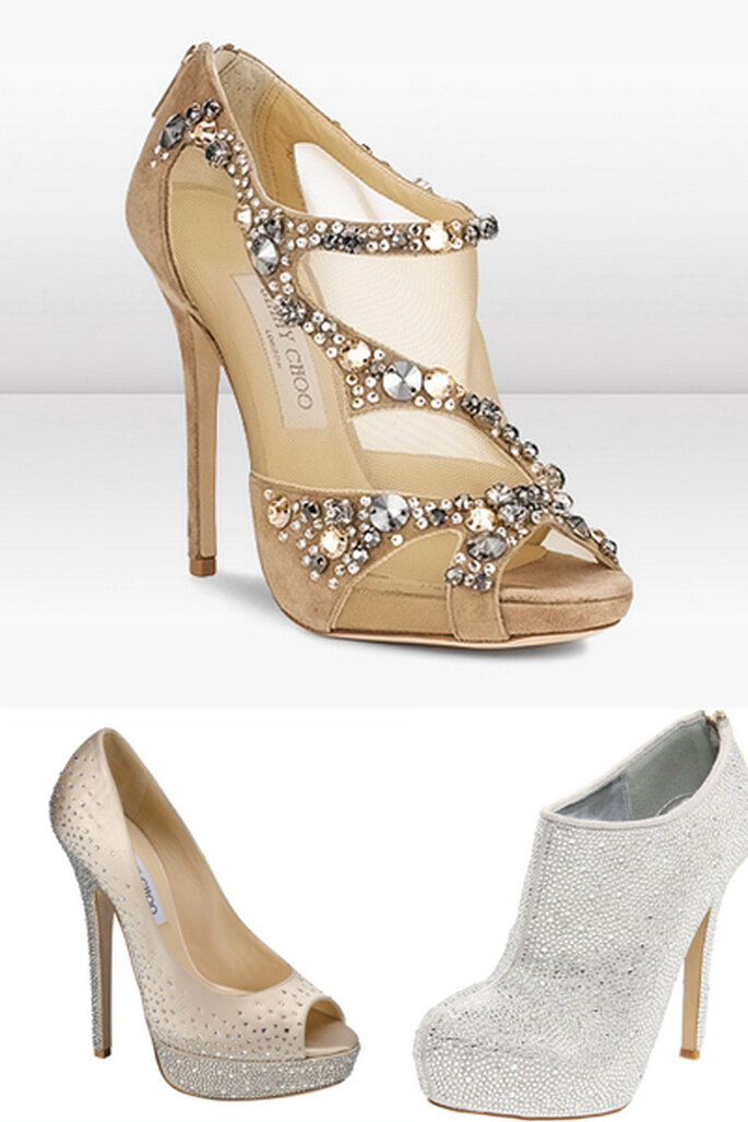 5 tendencias para tus zapatos de novia abiertos for Zapatos para boda en jardin