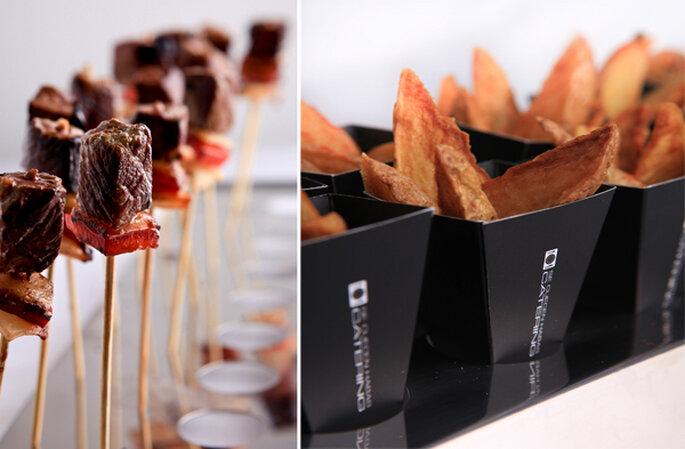 Shakitori de Lomo & Smoked potatoes. Foto: Se Cuecen Habas
