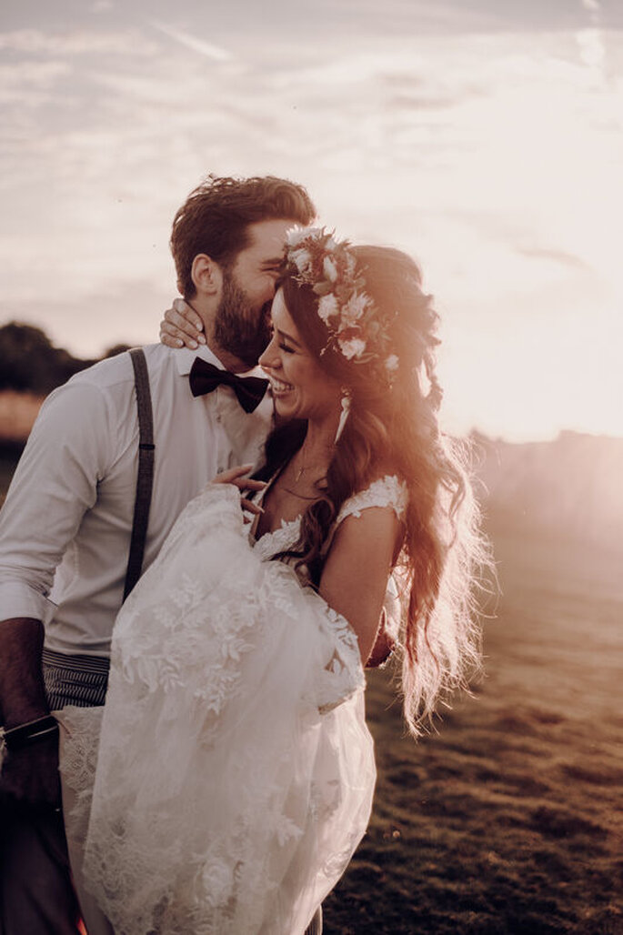 Extensions für Hochzeitsfrisuren mit langen Haaren, Boho Dream Wedding