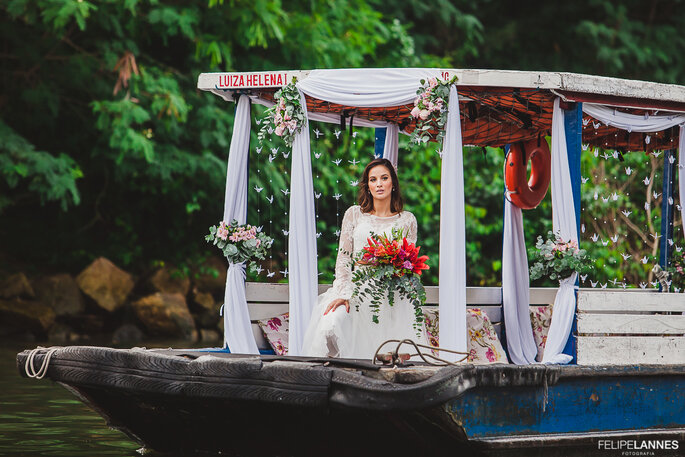Noiva no barco