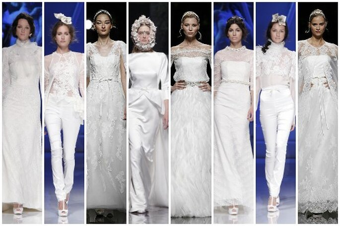 Vestidos de novia de manga larga, colecciones 2013. Foto: Barcelona Bridal Week