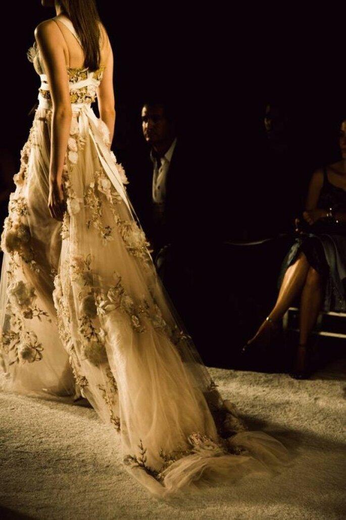 Vestido de novia de la colección Marchesa primavera 2014 - Foto Marchesa Facebook