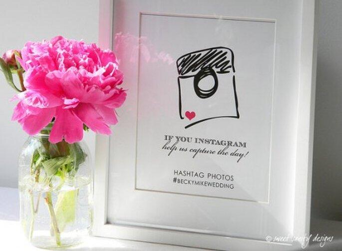 Usa hashtags para reunir las fotos de tu boda en las redes sociales - Foto sweetsanity