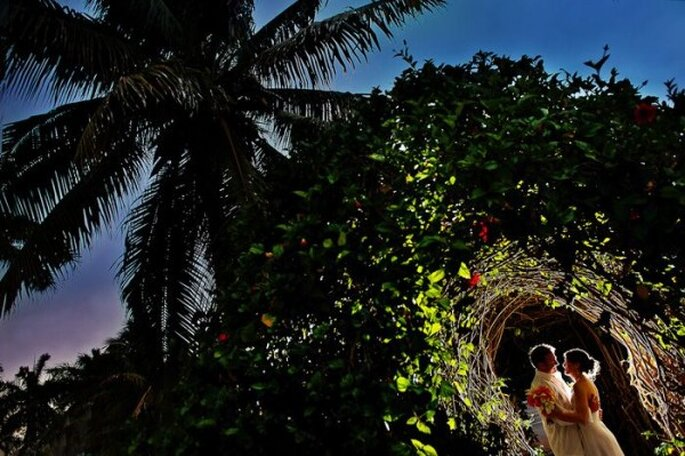 El contacto con la naturaleza en tus fotos de boda será sensacional - Foto Citlalli Rico Photography