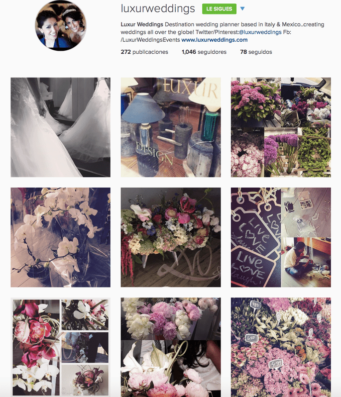 Luxur Weddings & Events Instagram