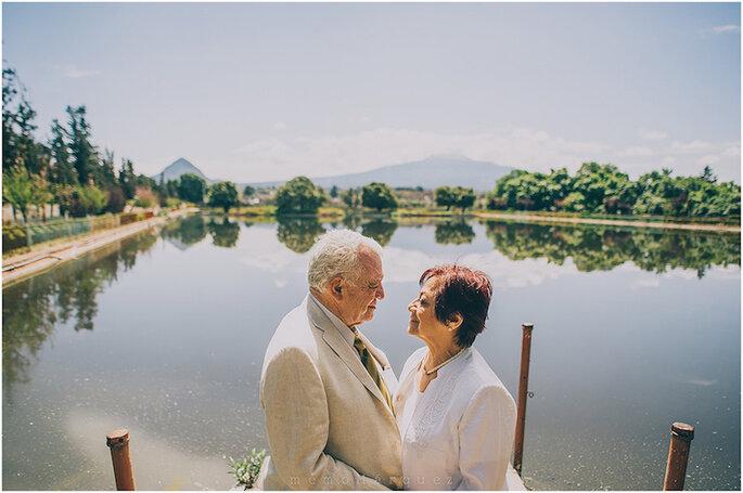 50 años de amor: una sesión de aniversario lindísima - Foto Memo Márquez