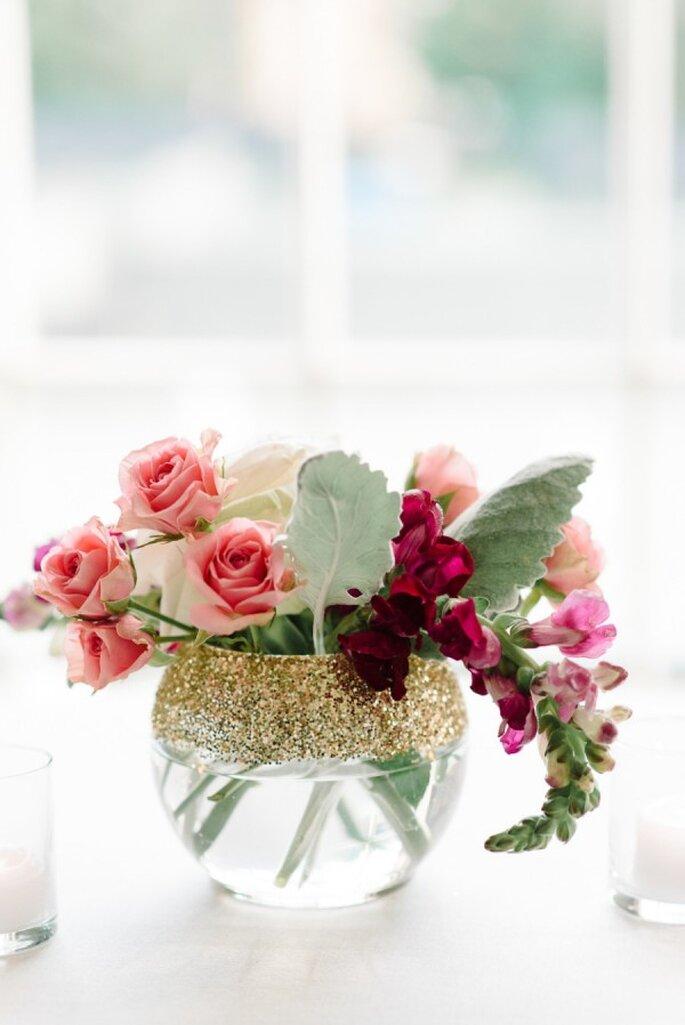 Glitter en la decoración de tu boda - Foto Michelle Lange