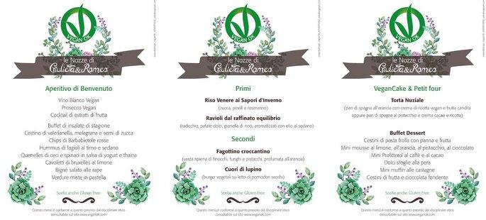 Menù di nozze VeganOK