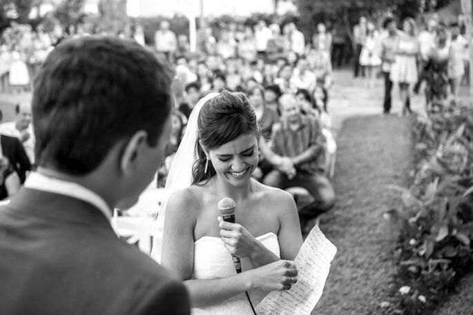 Leitura dos votos pela noiva