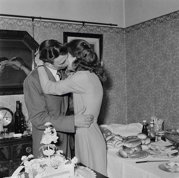 El banquete se celebraba en casa con un sencillo 'lunch'. Foto: Nobody's Book.