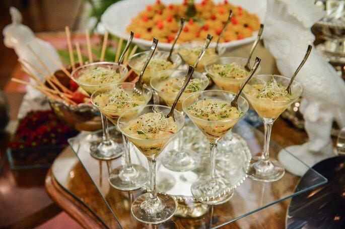 opções de finger food para casamento