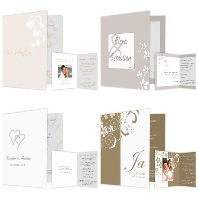 Die Einladungskarte als erster Eindruck für die Hochzeit - Foto: www.hochzeitskarten-traum.de