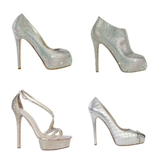 Zapatos para novia. Fotos www.lesilla.it.