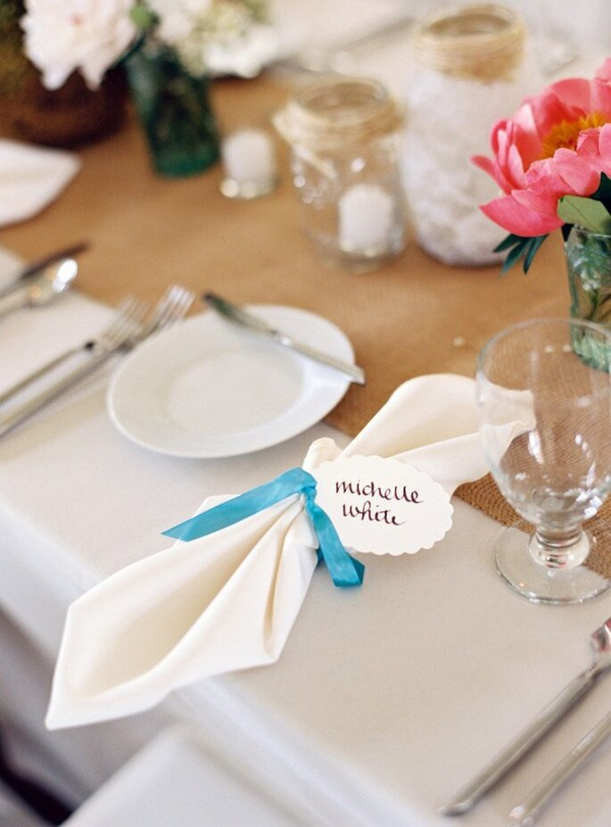 Los colores perfectos para decorar una boda en 2015 - Foto Charlotte Jenks Lewis Photography