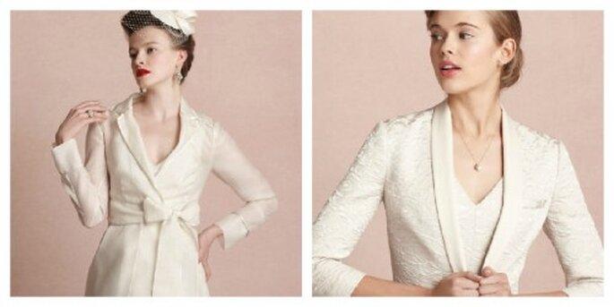 Elegante Mäntel oder Blazer in Weiß wärmen im Winter – Foto: bhldn