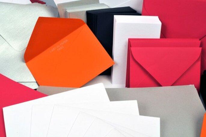 Faire-part de mariage : on mise sur le papier et sur l'enveloppe - Crédit Photo: Art du Papier Paris