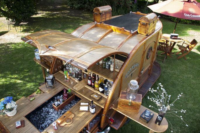 Bar móvel para casamento