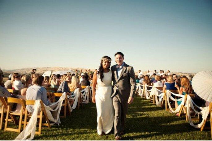 Ceremonias ambientadas artesanalmente - Foto: Green Wedding Shoes