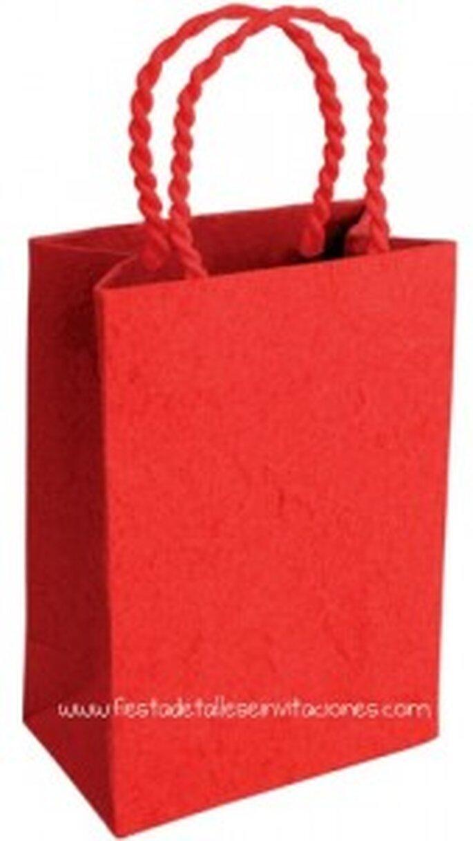 Bolsa de papel artesana disponible en varios colores