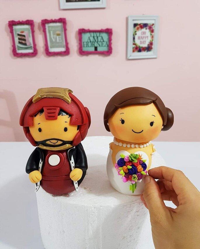 cake toppers y muñecos para pastel de boda monitos de pastel de boda de ironman figuras pastel de boda superheroes