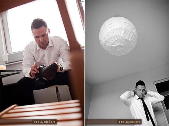 Arreglos del novio antes de la boda - Foto: www.snapstudio.eu