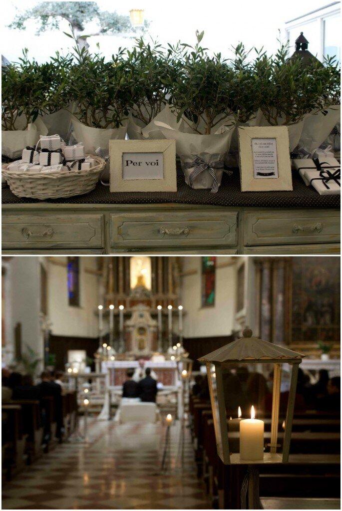 Un focus sui dettagli di ricevimento e cerimonia in chiesa