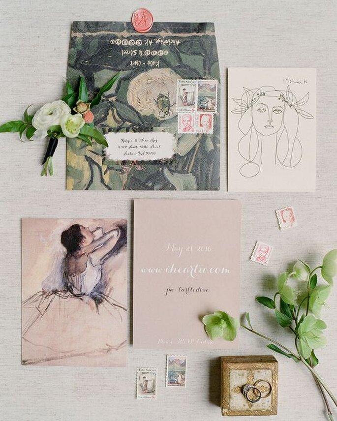 Hochzeitspapeterie Kunst