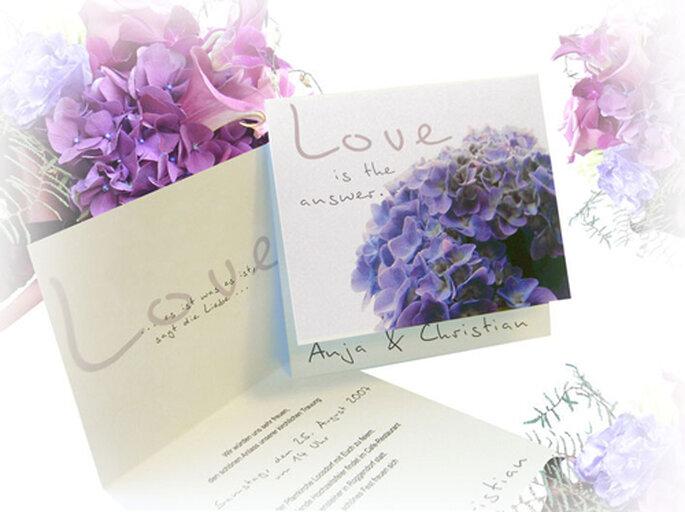 Romantisches und florales Kartendesign von hochzeitseinladungen.de