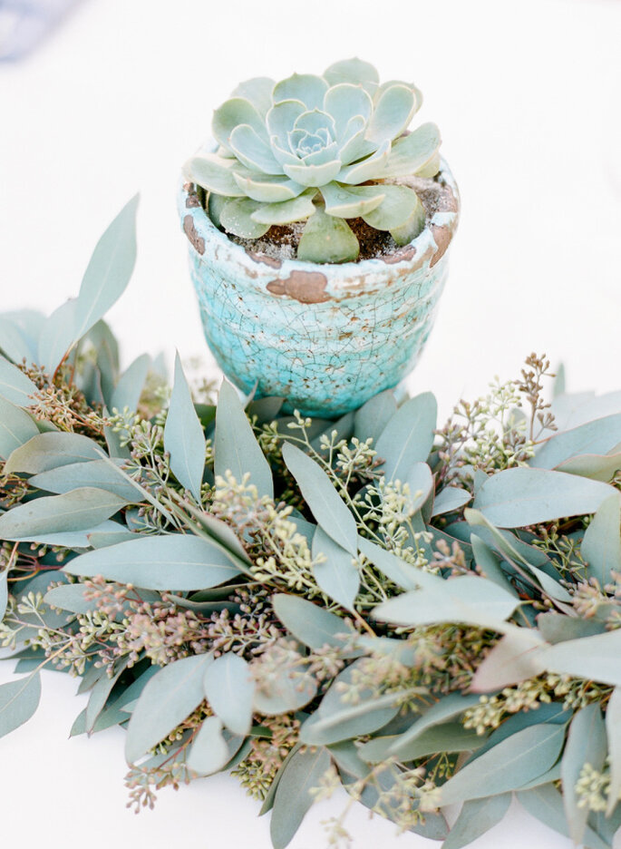 decoración de bodas en color menta - Josh Gruetzmacher Photography.