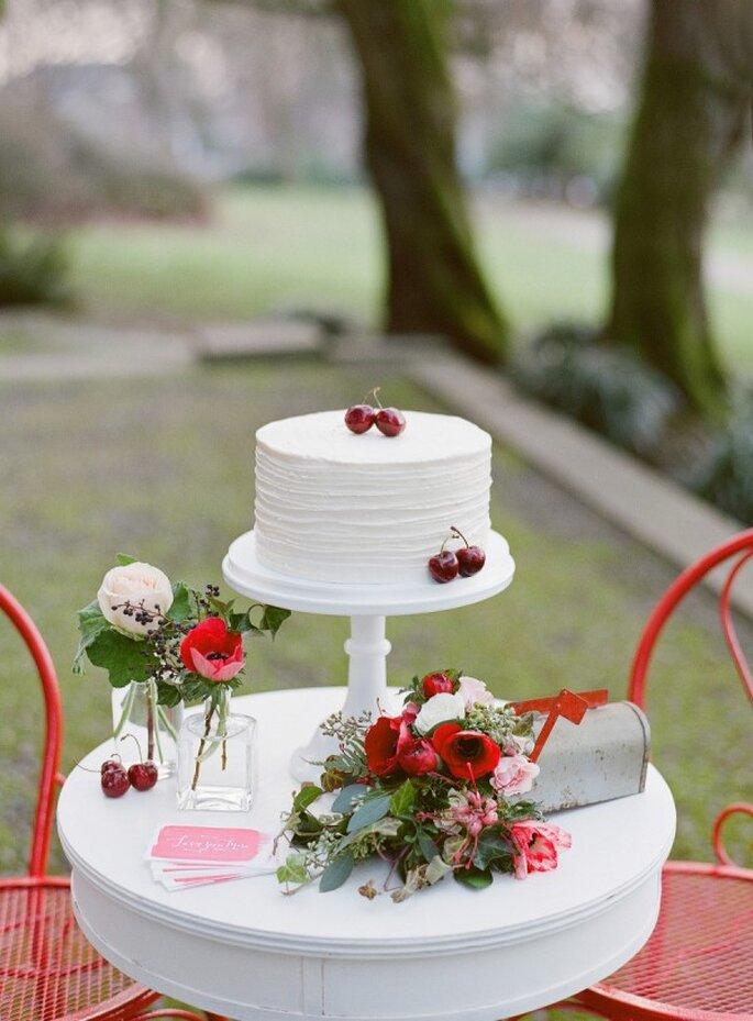 Mini cakes para tu banquete de bodas - Foto Katie Parra Photography