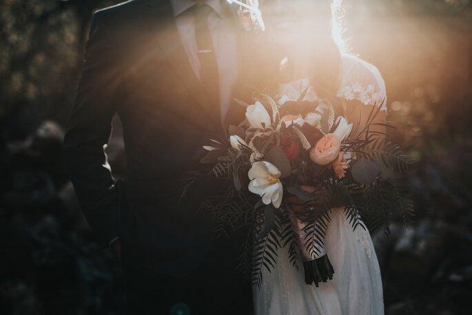 Noivos no dia do Casamento