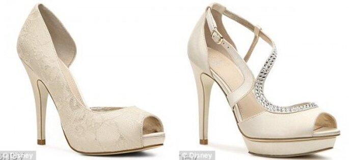 Zapatos de novia color crema inspirados en Cenicienta - Foto Disney