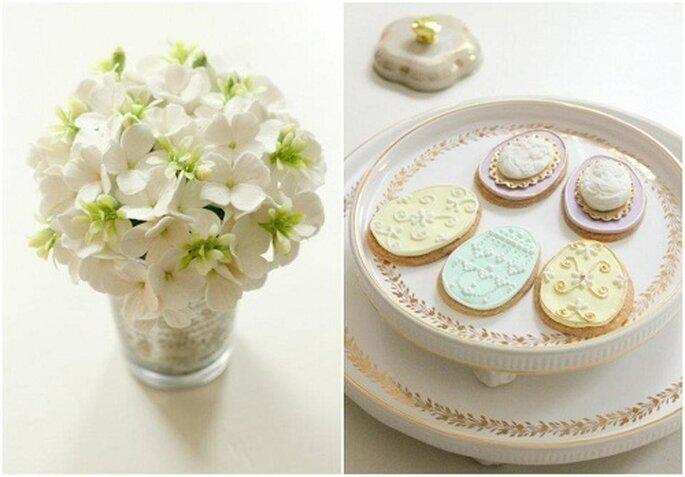 Flores de DK Designe. Galletas de Cupcake. Styling de Citrusandorange. Foto: Citrusandorange