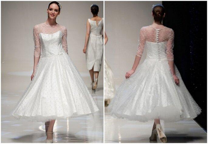 Vestido de novia Sylvie de Blue Bridalwear 2014. Pasarela de la White Gallery 2013. Foto: www.bluebridalwear.co.uk