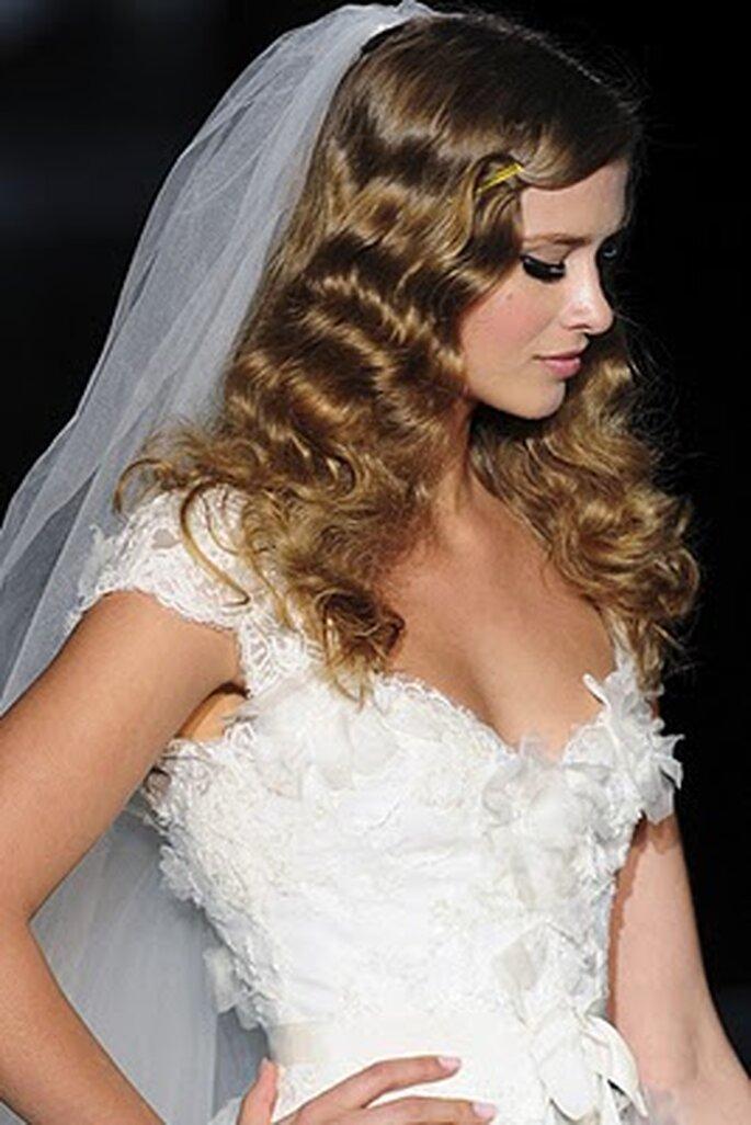 Lo más universal peinados novia pelo suelto Imagen de cortes de pelo Ideas - Top 5 peinados elegantes para las novias de 2011