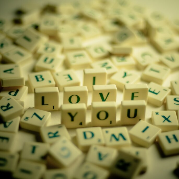 I Love You Scrabble Jumble - Photographic Print by Etsy seller eyeshoot