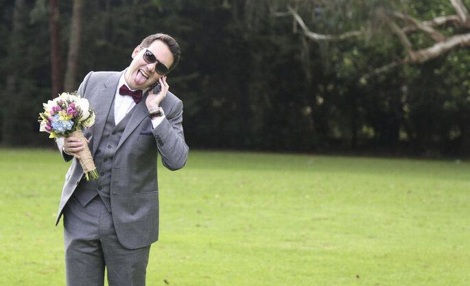 ¡Suelta el celular y ven a la boda! Foto: Lagus Media