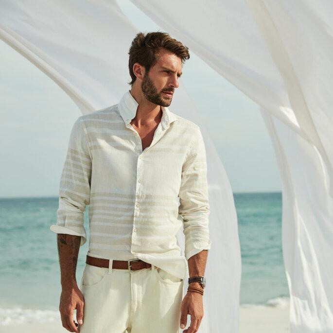 Traje masculino para casamento praiano
