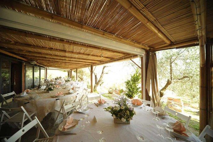 Banchetto matrimonio con stile rustico
