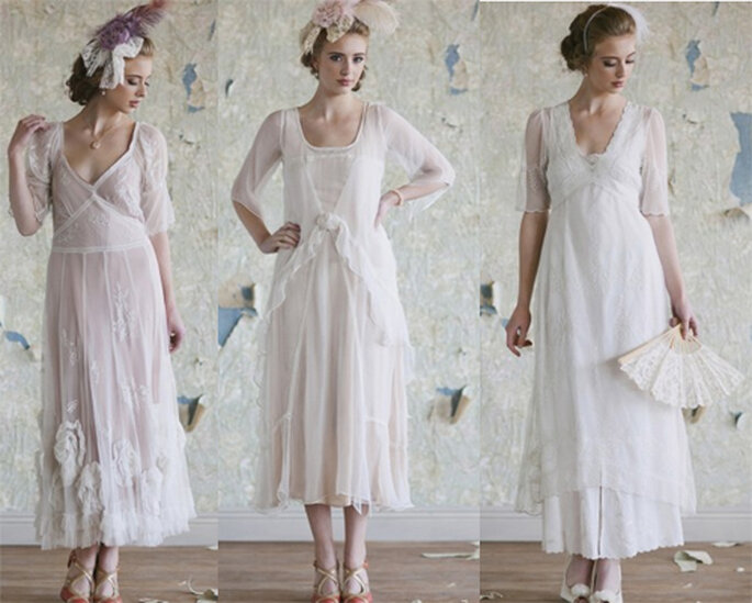 Vestidos de novia inspirados en la época de los 20's - Foto: Ruche