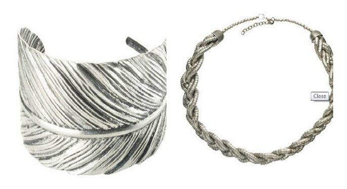 Bracciale e girocollo argento. Foto: accessorize.it