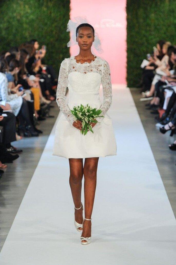 Vestidos de novia 2015 cortos - Oscar de la Renta