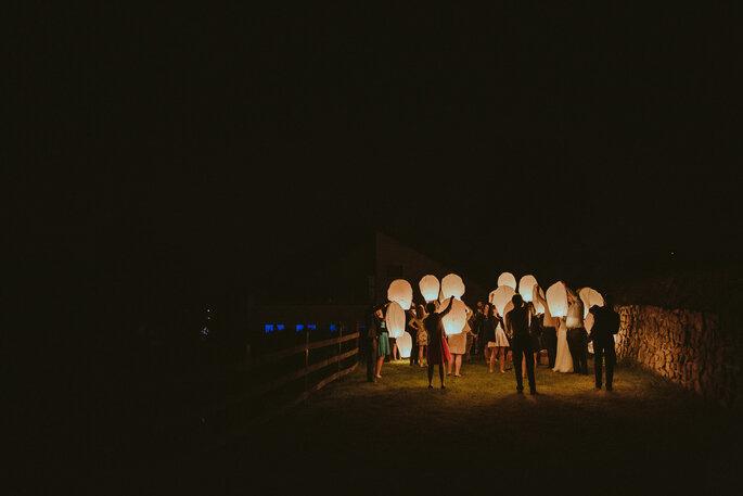 Lançamento de lanternas chinesas