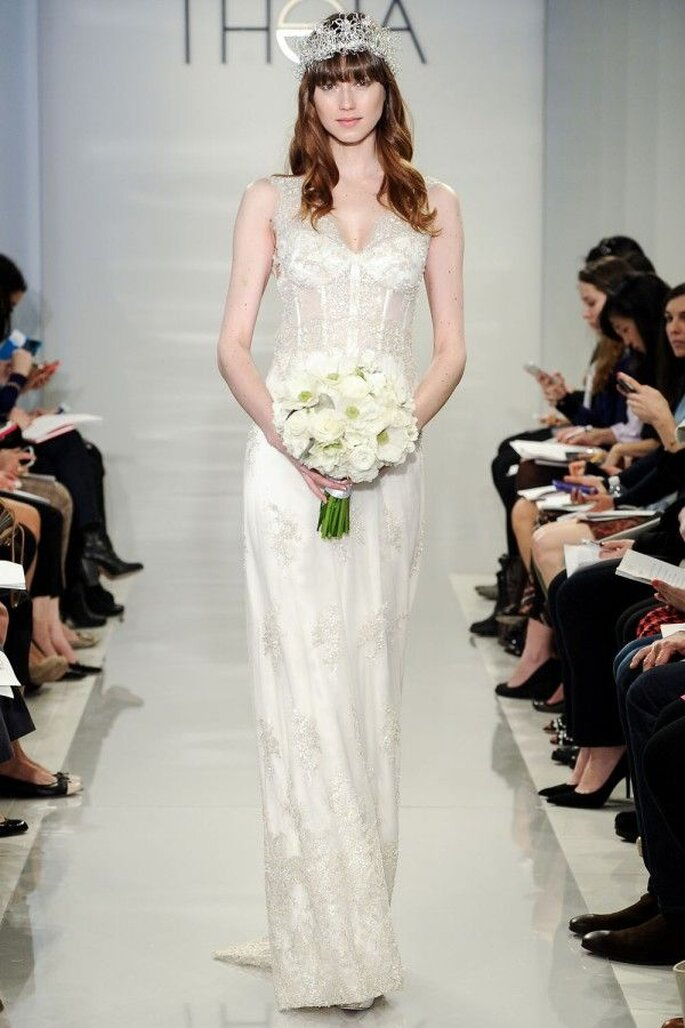 Vestidos de novia 2015 con corpiños estructurados - Theia