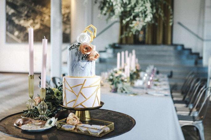 Hochzeitstorte Marmor Optik