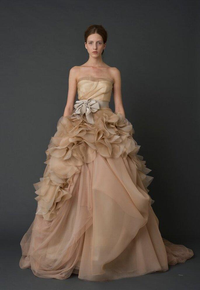 Vestido de novia femenino en color nude - Foto Vera Wang Facebook