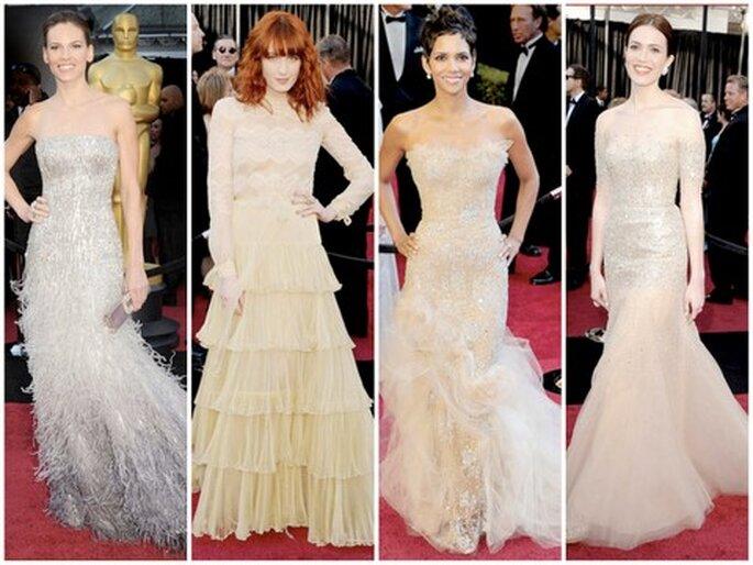De izquierda a derecha: Hilary Swank, Florence Welch, Halle Berry, Mandy Moore