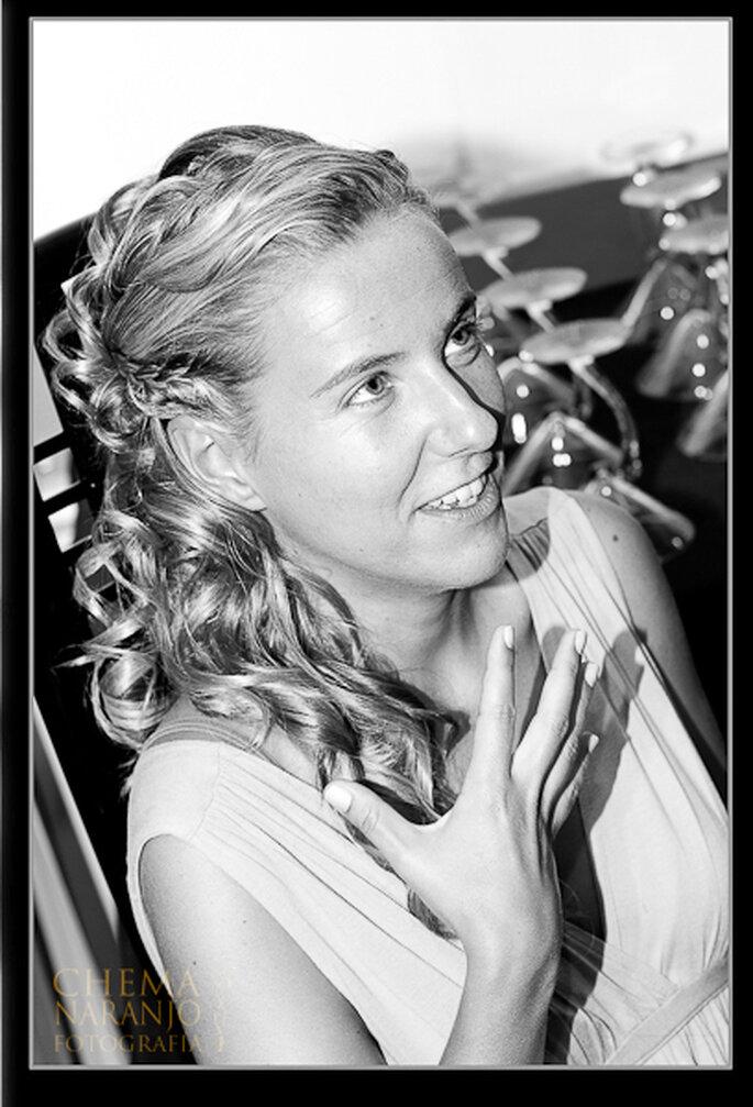 Lockiges offenes oder halb offenes Haar wirkt besonders romantisch - Foto: Chema Naranjo