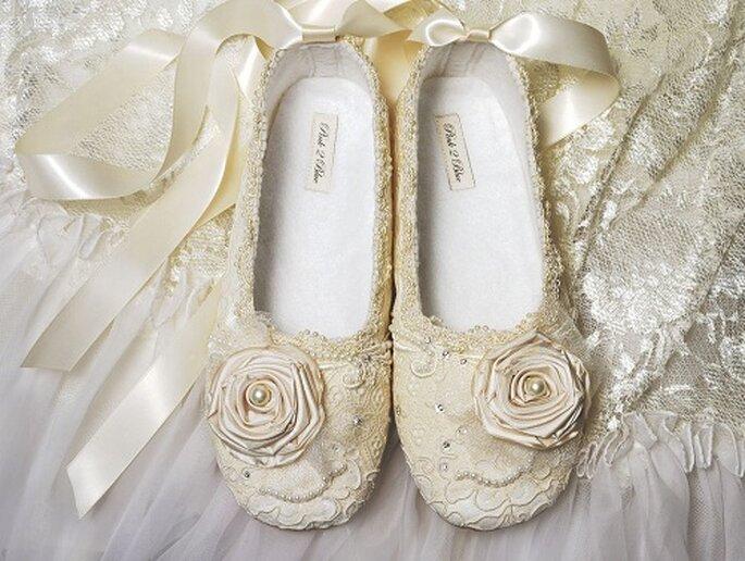 Bridal ballerinas. Foto: pink2blue