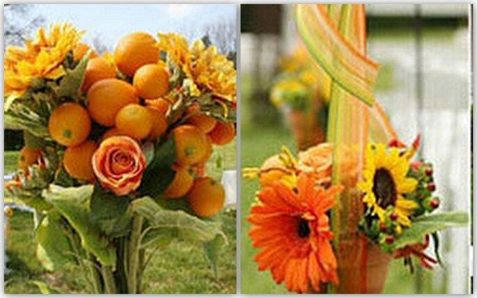 Un matrimonio tinto di giallo decorare con i girasoli for Piantare girasoli